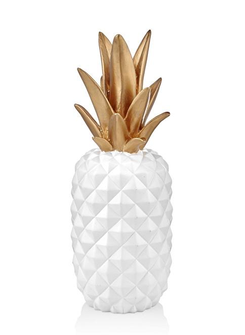 The Mia Dekoratif Ananas - 38 Cm  Beyaz